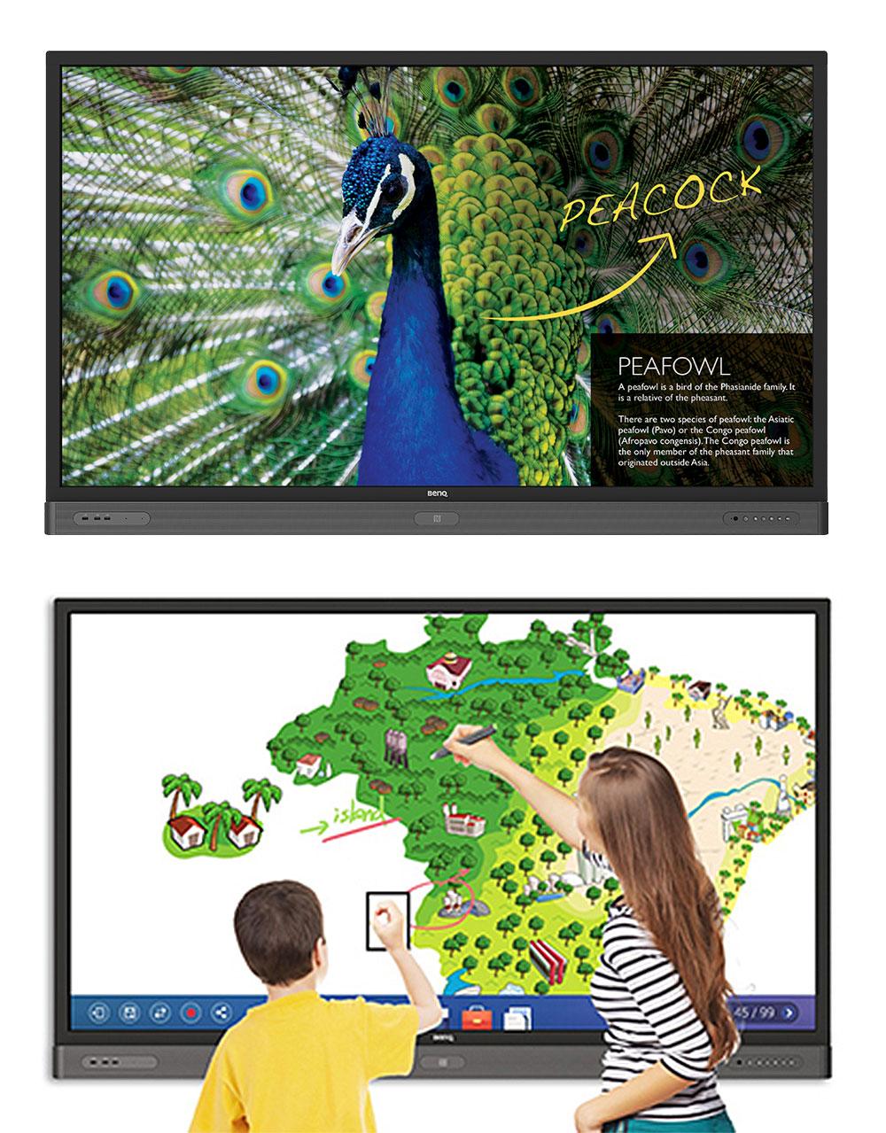BenQ Interaktiver Flachbildschirm für Bildung