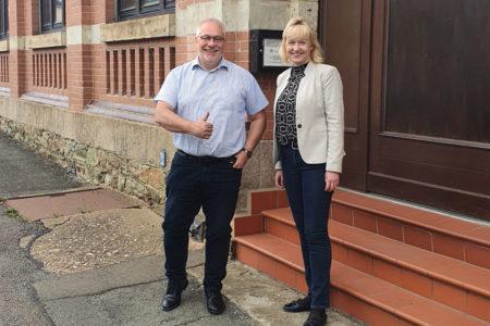 Baubürgermeisterin Köhler zu Besuch