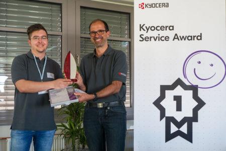 2. Platz beim Kyocera Service Award